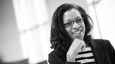 Black and white photo of Lecturer Kimberly Grantham, Ph.D.