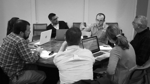 Photo of Online Learning Fellows meeting
