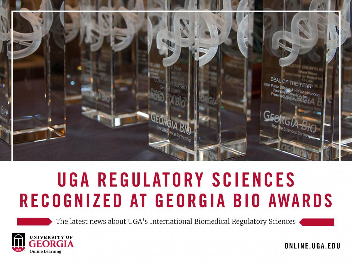 UGA Regulatory Sciences Recognized at Georgia Bio Awards   UGA