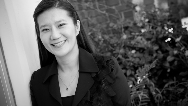 black and white image of faculty ChanMin Kim, Ph.D.