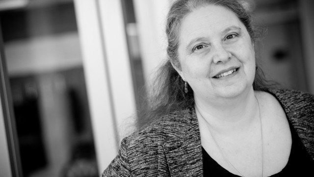 black and white image of faculty Nancy Knapp, Ph.D.