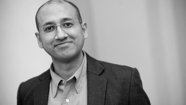 black and white image of Nikhil Srinivasan, Ph.D.