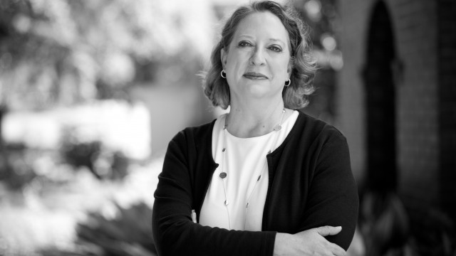 Black and white image of faculty. Ann Woodyard